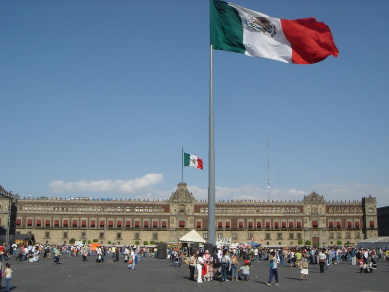 Mexico City's Palacio National.