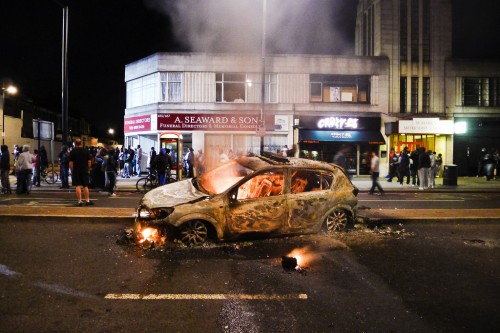 Aftermath of the tottenham riots.